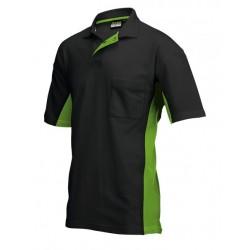 Tricorp Poloshirt Bi-Color Borstzak zwart-lime (TP2000) Maat: XXL