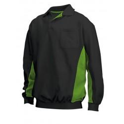 Tricorp Polosweater Bi-Color Borstzak zwart-lime (TS2000) maat: XL