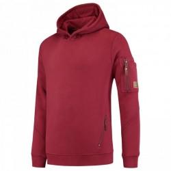Tricorp sweater premium met capuchon bordeaux  304001 Maat: M