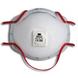 3M stofmasker 8833 FFP3 met uitademventiel