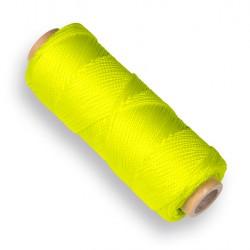 Metselkoord uitzetkoord 1,4 mm. fluor geel 50 meter