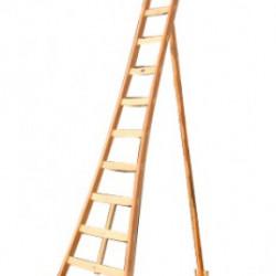 Driepoot ladder hout 12 sporten