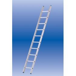Solide enkele ladder 10 sporten licht rechte bomen ongecoat