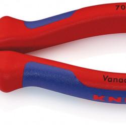Knipex zijsnijtang 70 05 verchroomd 140 mm. met geisoleerde handgrepen