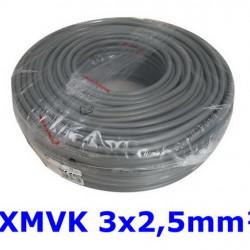 XMVK Kabel 3 x 2,5 mm. grijs