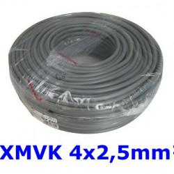 XMVK kabel 4 x 2,5 mm. grijs