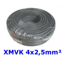 XMVK kabel 4 x 2,5 mm. grijs