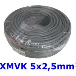 XMVK Kabel 5 x 2,5 mm. grijs