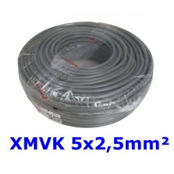 XMVK Kabel 5 x 2,5 mm. grijs