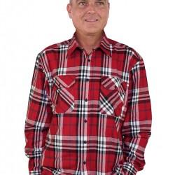 Storvik overhemd dawson R7 flanel rood maat XL