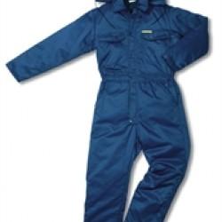 Overall gevoerd Beaver blauw L