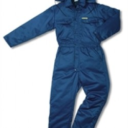 Overall gevoerd Beaver blauw S