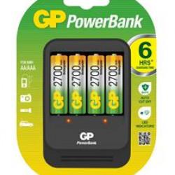 GP batterijlader (smart charger) met 4 AA oplaadbare batterijen