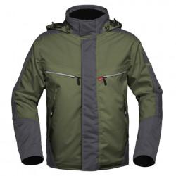 Havep attitude parka 50171 bosbouwgroen/charcoal grijs