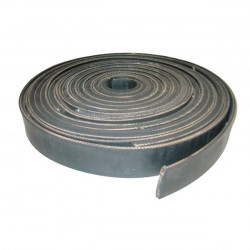 Boomband (zwart) met canvas (4 cm.)