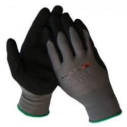 Werkhandschoenen Bull-Flex nitril zwart-groen 10328 maat: L (9)