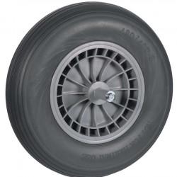 Kruiwagenwiel PVC nooit meer lek met 20 cm. as