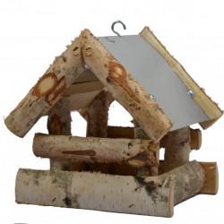 Voederhuis Berte hangmodel met zinken dakje