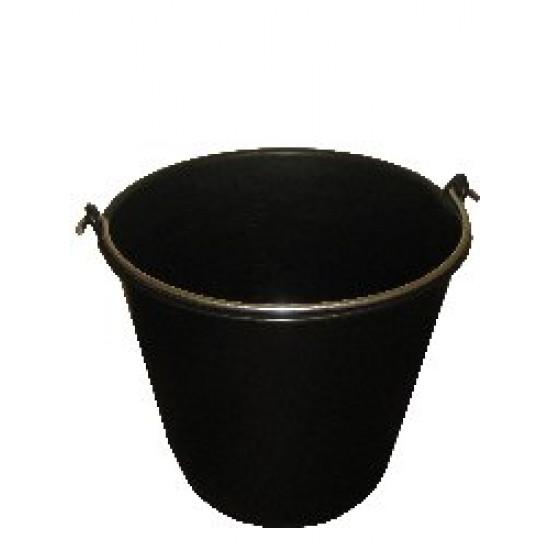 Emmer 20 liter zwart (zwaar)