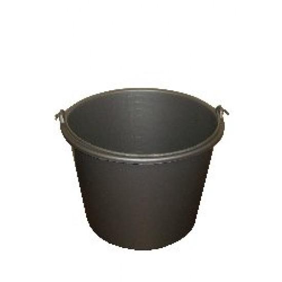 Emmer grijs 12 liter met maatverdeling