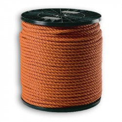 Touw polypropyleen (oranje) 4 mm. (500 mtr.)