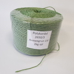 Bindtouw kunststof  3/850 groen (2 kg.)